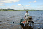 J O'Brien fishing Lough Derg